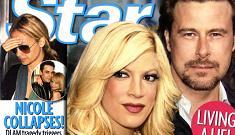 Tori Spelling denies that her husband said she looks like a horse