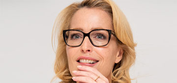 Gillian Anderson on people complimenting her skin: 'I often fall asleep in my makeup'