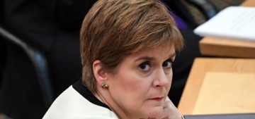 Scottish First Minister Nicola Sturgeon was not happy about the Cambridges' visit