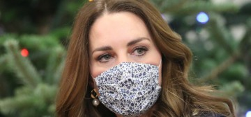 Duchess Kate recycled a Hobbs coat for a pandemic stop in Yorkshire