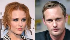 Evan Rachel Wood and True Blood heartthrob Alex Skarsgard quietly dating