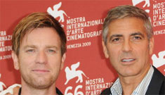 George Clooney & Ewan McGregor looking delicious in Venice