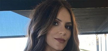 Katharine McPhee could be hinting that she's pregnant with twins