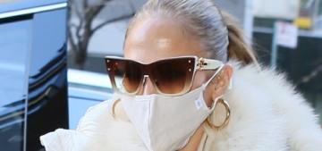 Jennifer Lopez's NYC rehearsal outfit involved fur, McQueen kicks & a rare Birkin bag