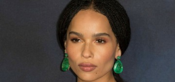 Did Zoe Kravitz dump her husband so she could bang Channing Tatum?  Hm.