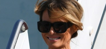 Melania Trump wore a $3700 Gucci dress for the Trumps' arrival in Florida