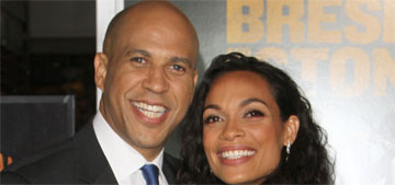 Cory Booker sent songs every morning to Rosario Dawson when they were apart