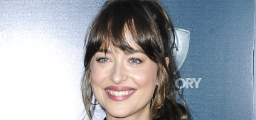 Dakota Johnson pretends to be George Clooney while booking reservations