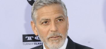 George Clooney hand-writes letters, sews, and stains his home all by himself