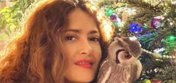 Salma Hayek has a pet owl that stays in her bedroom and flies around at night
