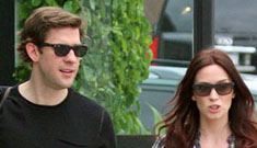 John Krasinski & Emily Blunt are fighting over babies & wedding plans