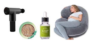 A pregnancy pillow that everyone can use, a massage gun and a versatile highlighter