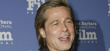 Brad Pitt was seen in Beverly Hills with a pandemic ponytail & clothes from the '90s