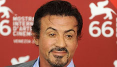 Is Sylvester Stallone's face melting?