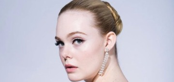 Elle Fanning wore ice-blue Gucci at the Golden Globes: gorgeous?