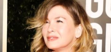 """Renee Zellweger wore Armani Prive to the Golden Globes"" links"