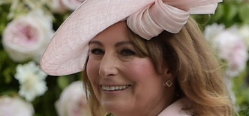 Carole Middleton publicizes the fact she's not going to publicize herself right now