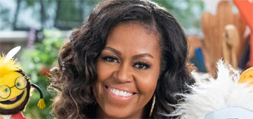 Michelle Obama has been swimming and knitting in lockdown