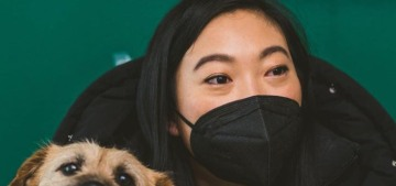 Awkwafina has a new rescue dog adopted from Korea