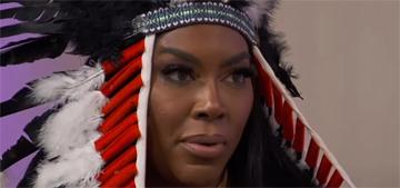 Kenya Moore eventually apologizes for wearing Native American headdress