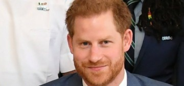 Prince Harry is trying to 'keep up' with his hot, smart, charismatic wife, okay?