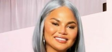 Chrissy Teigen desperately wants people to pay attention to her mid-life crisis wig