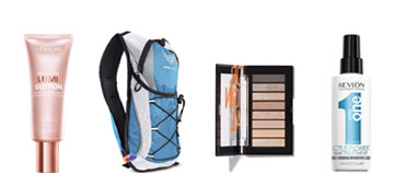 A water backpack for hikes, an effective bug repellent and a hair treatment