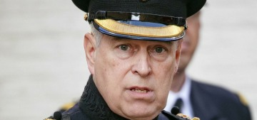 They should totally allow Prince Andrew to wear a Vice-Admiral's uniform at the funeral