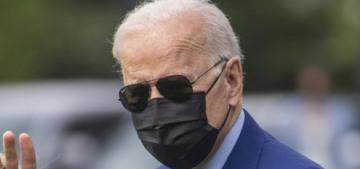 President Biden picked a dandelion for Dr. Jill Biden on their walk to Marine One