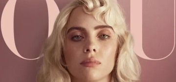 Billie Eilish goes full-on blonde-bombshell pin-up for a British Vogue editorial