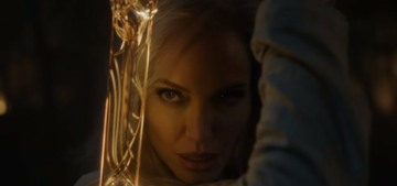 Marvel released the first footage from 'Eternals', including a blonde Angelina Jolie