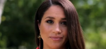 Duchess Meghan did a pre-taped appearance on a bench for the 'Vax Live' concert