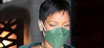 Rihanna ushers in the pixie-cut, small-purse, miniskirted post-pandemic era