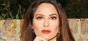 Salma Hayek had a bad case of Covid last year & refused to go to the hospital