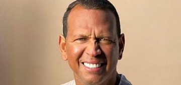Alex Rodriguez is done being sad about J.Lo & he's shilling makeup for men