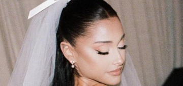 Ariana Grande reveals her Vera Wang wedding gown: classic, simple & lovely?