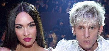 Megan Fox & a freaky-nailed MGK were loved up at the iHeartRadio Awards