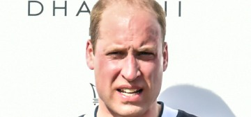 Wait, Prince William had twelve polo ponies and he's mysteriously given up polo?