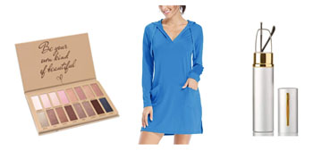 A hoodie dress for the beach, the best eyeshadow palette and sheet masks