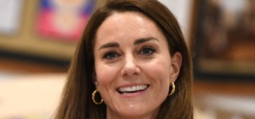 Duchess Kate wore a red McQueen dress for a Cornwall event with Dr. Jill Biden