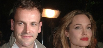 Angelina Jolie visited Jonny Lee Miller's NYC apartment alone with a bottle of wine