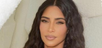 Kim Kardashian got a bouclé-covered Lambo & she flunked the baby bar again