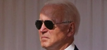 Pres. Biden kept his sunglasses on to meet Queen Elizabeth at Windsor Castle