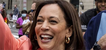 Kamala Harris and Doug Emhoff marched in the Pride Parade in DC on Saturday