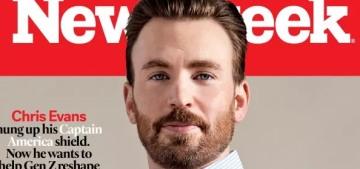 Chris Evans covers Newsweek to talk both-sideism, Gen Z & political vitriol