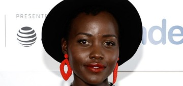 Lupita Nyong'o wears harlequin-style dress to Tribeca premiere: checkers chic?