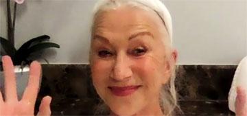 Helen Mirren did her entire Tonight Show interview from her bathtub