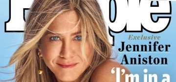 Jennifer Aniston got the cover of People Mag to talk about sunsets, peace