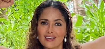 Salma Hayek: in menopause my boobs 'have just kept growing'