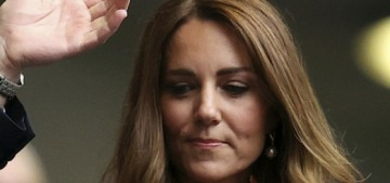 Duchess Kate went to the England-Germany football match with George & William